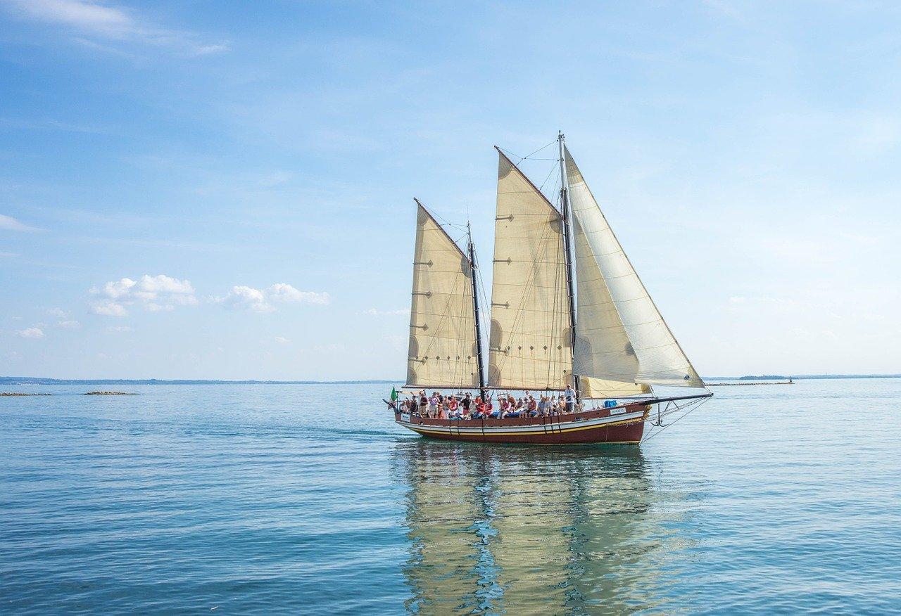 ship, boat, lake
